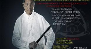 Grand Tuhon Leo T. Gaje, Jr. Pekiti Tirsia Kali Seminar
