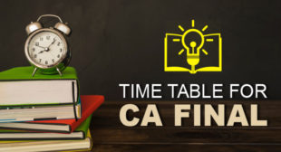 Download CA Final Time Table for November 2018