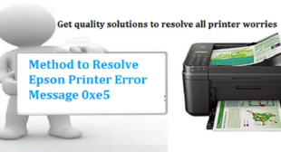 How to Troubleshoot Epson Printer Error Code 0xe5? – Contact for Guide