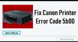 How to Resolve the Canon Printer Error Code 5b00? – Printer Support EN