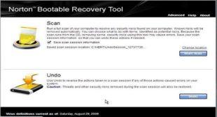 Retrieve data using Norton Bootable Recovery Tool