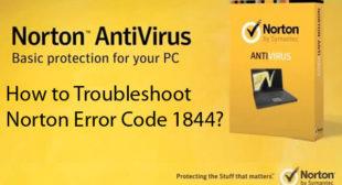 How to Troubleshoot Norton Error Code 1844? – norton.com/setup