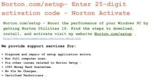 Norton.com/Nu16   Norton.com/Setup   Norton.com/MyAccount