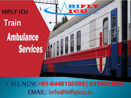 Avail Hifly ICU Train Ambulance in Hyderabad with Medical Team