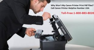 Why Won't My Canon Printer Print Pdf Files? Call Canon Printer Helpline Number USA