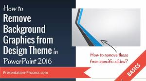 How to Remove Background Graphics in PowerPoint