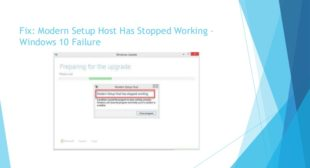 How to Fix Modern Setup Host has Stopped Working
