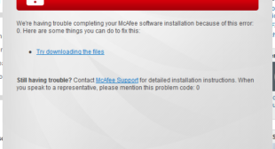 How to Fix McAfee Error Code (x5485): Unable to Continue Installation