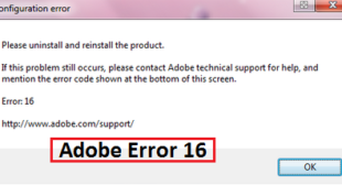 How to Fix Adobe Error Code 16 on Windows 10 – Office Setup
