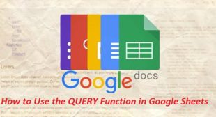 How to Use the QUERY Function in Google Sheets – Nation Directory