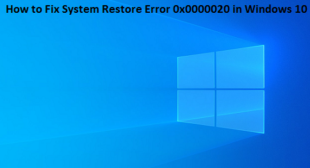 How to Fix System Restore Error 0x0000020 in Windows 10 – norton.com/setup