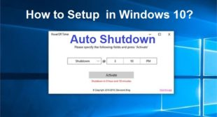 How to Setup Auto Shutdown in Windows 10?