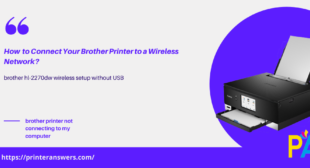 how do i connect my brother printer to my wireless network