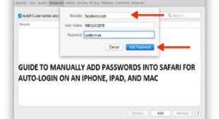 Guide to Manually Add Passwords into Safari for Auto-Login on an iPhone, iPad, and Mac – WebrootSafe