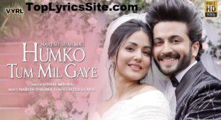 Humko Tum Mil Gaye Lyrics – Vishal Mishra – TopLyricsSite.com