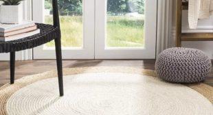 Rectangle Carpets   Hand Woven Jute & Cotton Chindi Carpet   Contemporary Carpet   Centre Table Carpet   Easy to Wash Carpet & Custom Sizes