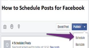 How to Schedule Posts for Facebook