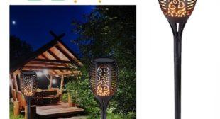Solar Flame Lamp For Outdoor Garden