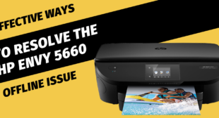 Why HP Envy 5660 Printer says offline?