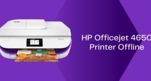 HP Officejet 4650 Printer Offline Issue