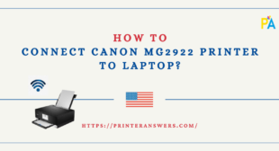 Way to Connect Canon MG2922 Printer to Laptop