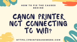 Why won't Canon Printer mx922 connect to WiFi