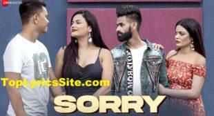 Sorry Lyrics – Simran Jeet, Ankita Khare – TopLyricsSite.com