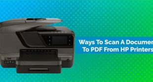 How Do I Get My HP Printer To Scan To PDF
