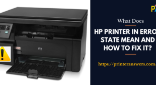 What Does HP Printer in Error State Mean and How to Fix It?