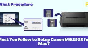 Procedures You Must Follow while Setup Canon MG2922 for Mac