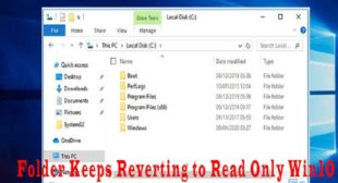 How to Fix Folder Keeps Reverting to Read Only on Windows 10? – McAfee.com/Activate