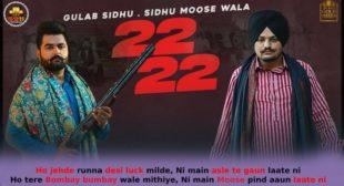 22 22 Bai Bai – Sidhu Moose Wala Lyrics in Hindi