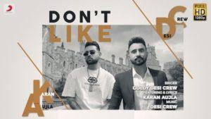 DON'T LIKE – Karan Aujla
