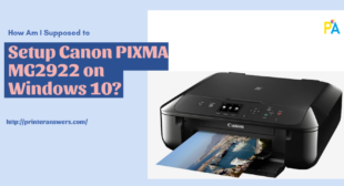 Setup Canon PIXMA MG2922 on Windows 10