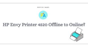 Make HP Envy Printer 4520 Offline to Online
