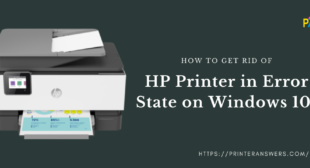 How to fix hp printer in error state windows 10?