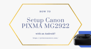 Setup Canon PIXMA MG2922 with an Android