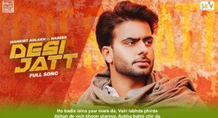Desi Jatt Lyrics in Hindi – Mankirt Aulakh