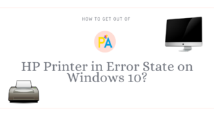 Resolve the Issue of HP Printer in Error State Windows 10