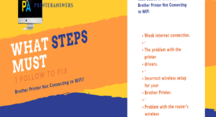 What to do when Brother Printer not connecting to WiFi Mac?