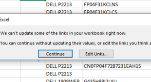 "How to Troubleshoot Excel Error ""We Can't Update Some of the Links in Your Workbook""?"