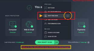 What is the Method to Use AVG Boot Time Scan? Youtueb