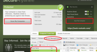 What is the Method to Scan Results and Manage Threats in Webroot?