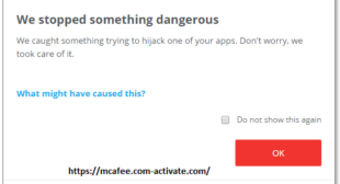 If McAfee Stops Detecting Malware! How to Fix it? Mcafee.com/activate