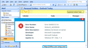 What are the Causes And Solution of Outlook Error Code 0x800ccc10?