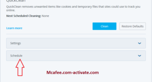 McAfee Quick Clean Tool – Www.Mcafee.Com/Activate
