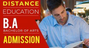 Distance Education BA, Bcom, BBA, BCA, Bsc, MA, Mcom, Msc, MBA, and MCA Admission 2021