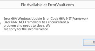 How To Resolve Window Update Error Code 66a with Webroot?