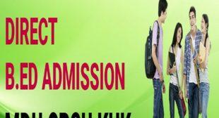 B.ED Online Admission Form 2021-2022 last date Application, Registration