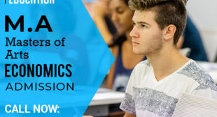 MA Economics Masters Distance Education Learning Correspondence Admission 2021